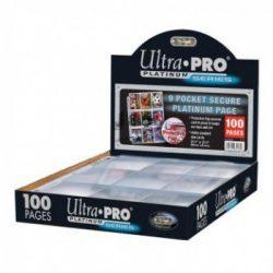 Ultra-Pro 9 zsebes Platinum védőfüles kártya tartó lap, mappalap karton/100 db