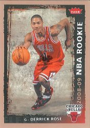 2008-09 Fleer #201 Derrick Rose RC