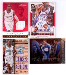 4 db Chris Paul Hornets / Clippers sorszámozott, mezdarabos és insertek