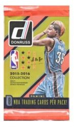 2015-16 Panini Donruss Basketball Retail / alap kosaras kártya csomag
