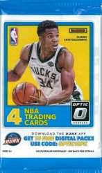 2017-18 Panini Donruss Optic Basketball Retail / alap kosaras kártya csomag