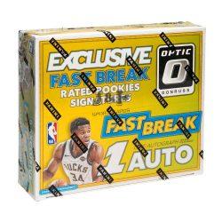 2017-18 Panini Donruss Optic Fast Break Basketball kosaras kártya doboz - 1 aláírt dobozonként