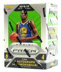 2018-19 Panini Prizm Basketball kosaras kártya Blaster doboz - 1 aláírt vagy mezdarabos dobozonként