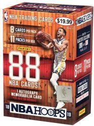 2018-19 Panini Hoops Basketball kosaras kártya Blaster doboz - 1 aláírt vagy mezdarabos dobozonként