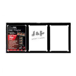 Ultra Pro fekete keret 3 kártyához - One-touch mágneses tok
