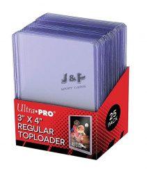"""Ultra Pro toploader kemény tok 3"""" x 4"""" Regular színtelen 35pt - doboz (25 db)"""
