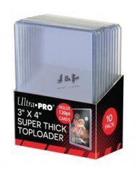 "Ultra Pro toploader kemény tok 3"" x 4"" Super Thick színtelen 120pt - doboz (10 db)"
