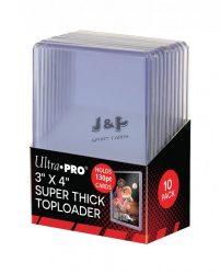 "Ultra Pro toploader kemény tok 3"" x 4"" Super Thick színtelen 130pt - doboz (10 db)"
