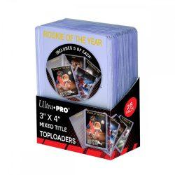 """Ultra Pro toploader kemény tok 3"""" x 4"""" Regular """"Mixed Title"""" színtelen feliratos 35pt - doboz (5*5 db)"""