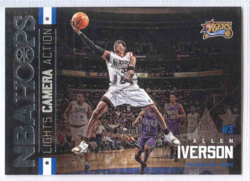 2015-16 Hoops Lights Camera Action  24 Allen Iverson - Sport Kártya ... f5370da3bf