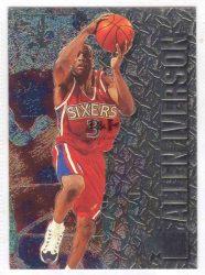 1996-97 Fleer Metal #201 Allen Iverson RC Rookie card