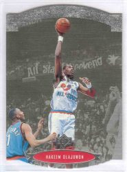 1995-96 Upper Deck SP All-Stars Die Cut #AS17 Hakeem Olajuwon