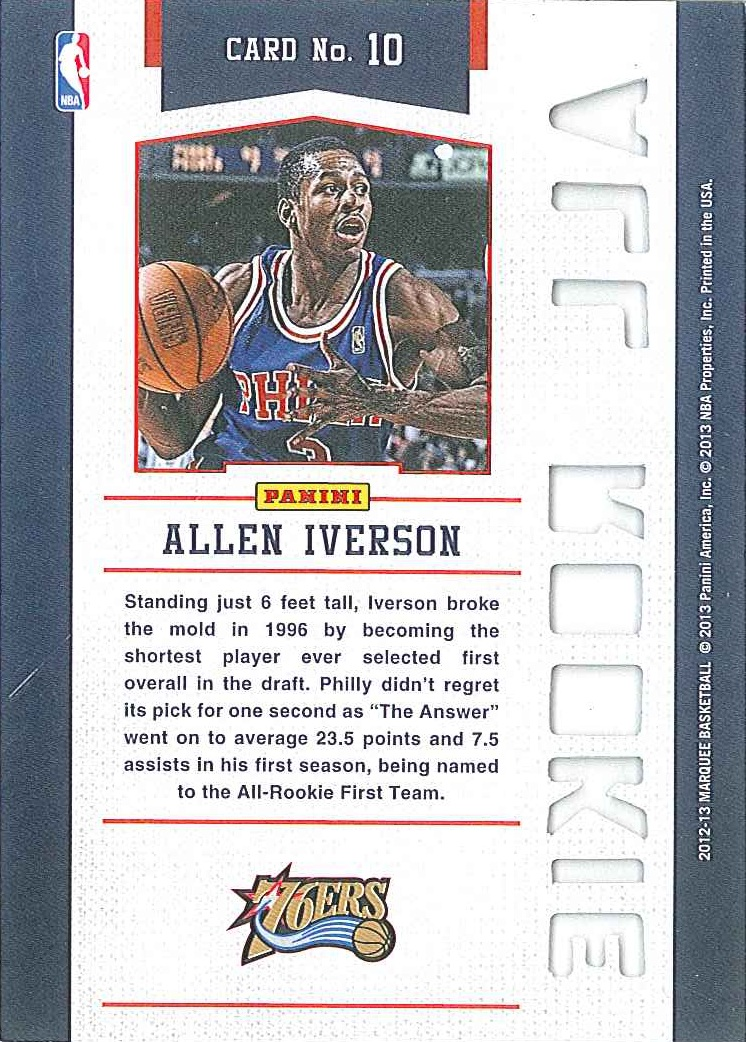 All-Rookie Team #10 Allen Iverson back $3