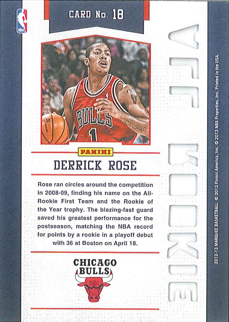 All-Rookie Team #18 Derrick Rose back $8