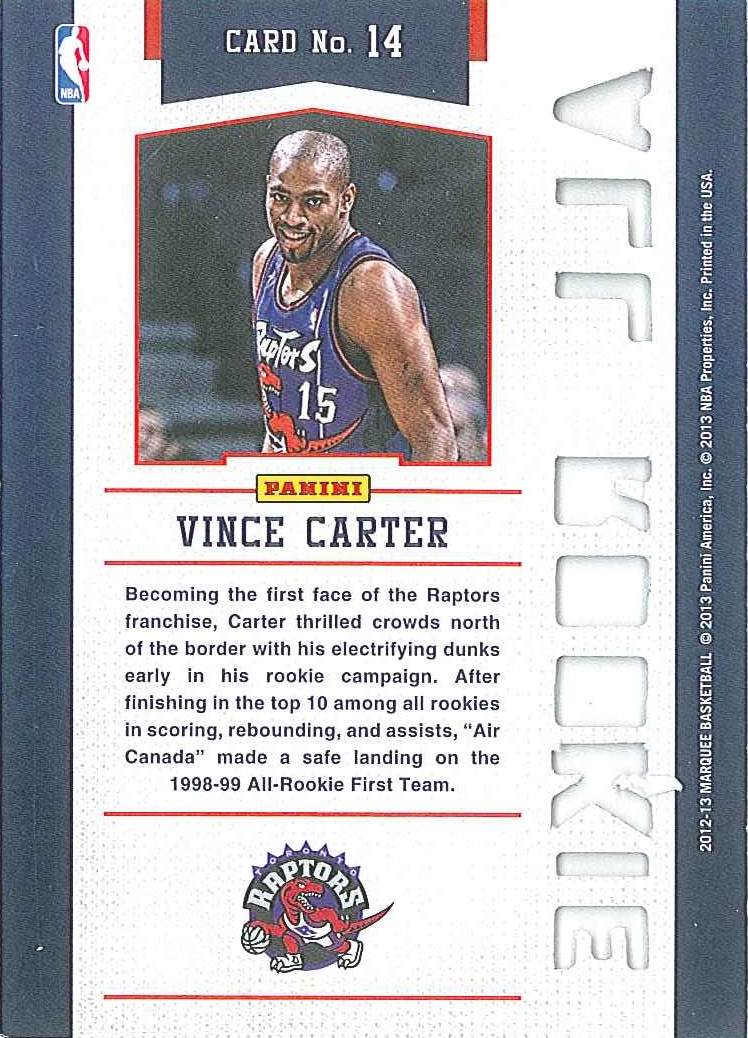 All-Rookie Team #14 Vince Carter back $3