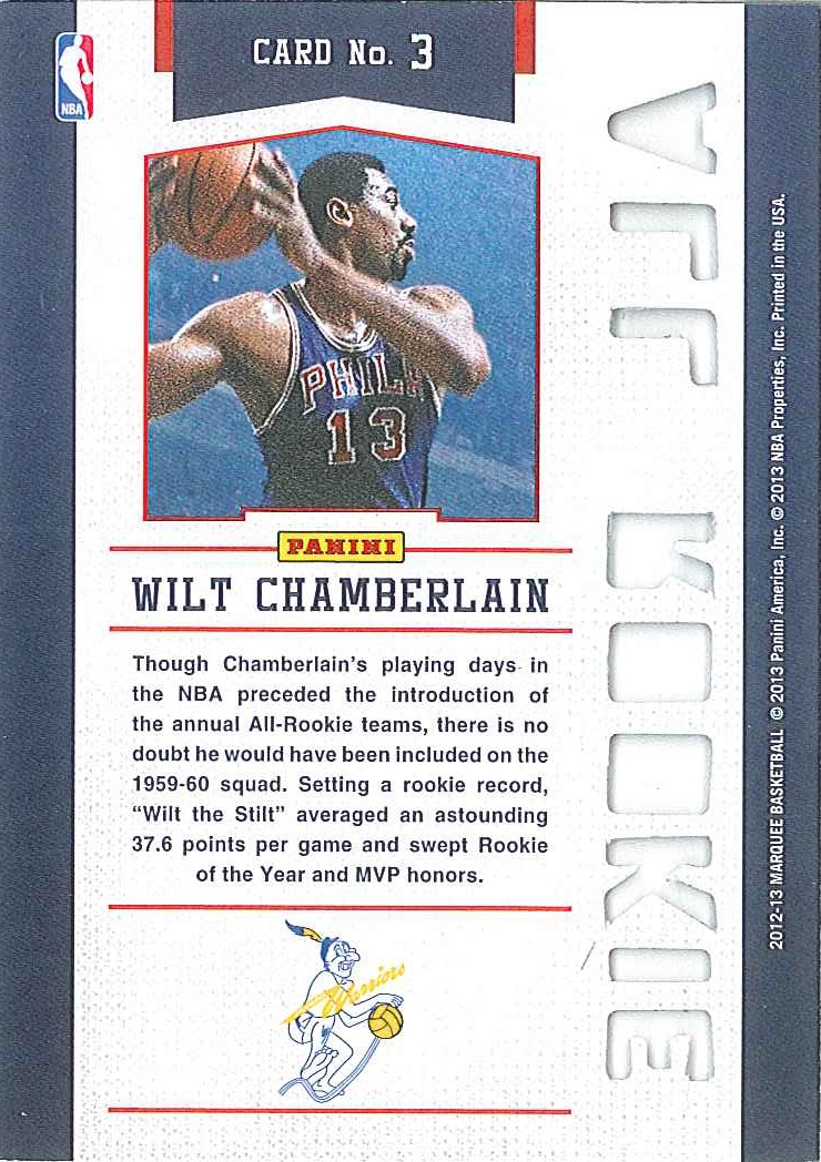 All-Rookie Team #3 Wilt Chamberlain back $5
