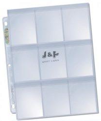 Ultra-Pro 9 zsebes Platinum védőfüles kártya tartó lap, mappalap 1 db