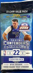 2020-21 Panini Contenders Basketball Cello Jumbo Value Fat Pack kosaras kártya csomag