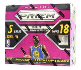 2018-19 Panini Prizm Fast Break Basketball kosaras kártya doboz - 1 aláírt és 12 Prizms dobozonként