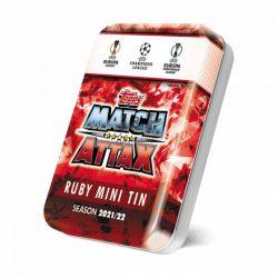 21/22 UEFA Champions League Match Attax focis kártya mini tin ruby