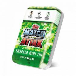 21/22 UEFA Champions League Match Attax focis kártya mini tin emerald