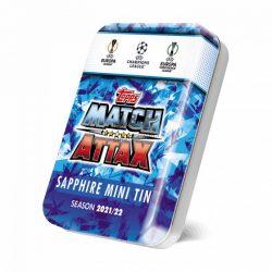 21/22 UEFA Champions League Match Attax focis kártya mini tin Saphir
