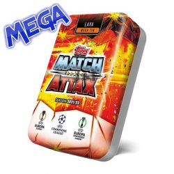 21/22 UEFA Champions League Match Attax focis kártya mega tin lava