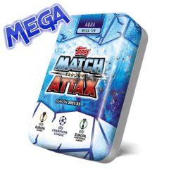21/22 UEFA Champions League Match Attax focis kártya mega tin Aqua