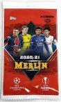 2020-21 Topps Merlin Chrome Soccer Blaster pack - focis kártya csomag