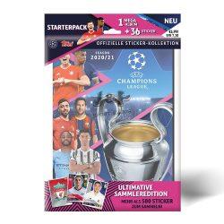2020/21 UEFA Champions League Match Attax focis matrica album kezdő csomag (album + matrica) (DE)