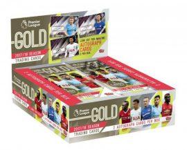 2017-18 Topps Premier League Gold Soccer Hobby focis kártya doboz - 2 db aláírt/doboz!