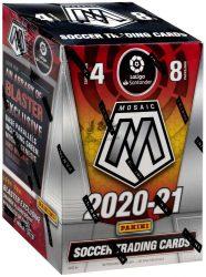 2020-21 Panini Mosaic La Liga Soccer Blaster box - focis kártya blaster doboz