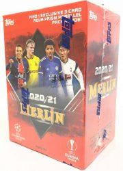 2020-21 Topps Merlin Chrome Soccer Blaster box - focis kártya blaster doboz