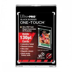 Ultra Pro UV One Touch holder 130pt mágneses kemény tok  fekete kerettel, Black Border