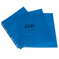 Blackfire 18 zsebes kártya tartó lap 11 lyukú, oldaltöltésű kétoldalas mappalap /db