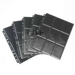Gamegenic 18 zsebes kártya tartó lap 11 lyukú, oldaltöltésű kétoldalas mappalap /db - fekete
