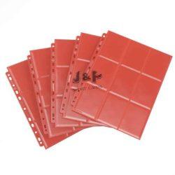 Gamegenic 18 zsebes kártya tartó mappalap - 11 lyukú, oldaltöltésű kétoldalas mappalap /db - piros