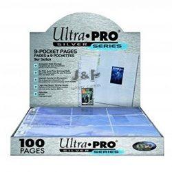 Ultra Pro Silver 9 zsebes kártya tartó lap 11 lyukú, mappalap karton - 100 lap
