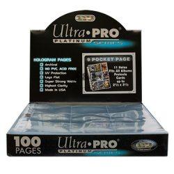 Ultra Pro Platinum 9 zsebes kártya tartó lap 11 lyukú, mappalap karton - 100 lap