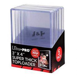 "Ultra Pro toploader kemény tok 3"" x 4"" Super Thick színtelen 360pt - doboz (5 db)"