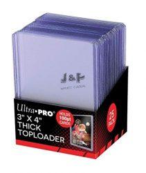 "Ultra Pro toploader kemény tok 3"" x 4"" Thick színtelen 100pt - doboz (25 db)"