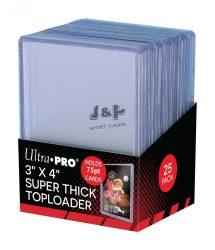 "Ultra Pro toploader kemény tok 3"" x 4"" Thick színtelen 75pt - doboz (25 db)"
