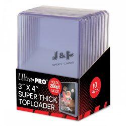 "Ultra Pro toploader kemény tok 3"" x 4"" Super Thick színtelen 260pt - doboz (10 db)"
