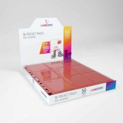 Gamegenic 18 zsebes kártya tartó mappalap 11 lyukú, oldaltöltésű kétoldalas - doboz (50db lap) - fekete