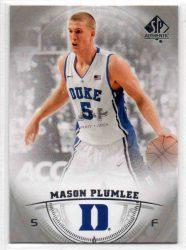 2013-14 SP Authentic #34 Mason Plumlee