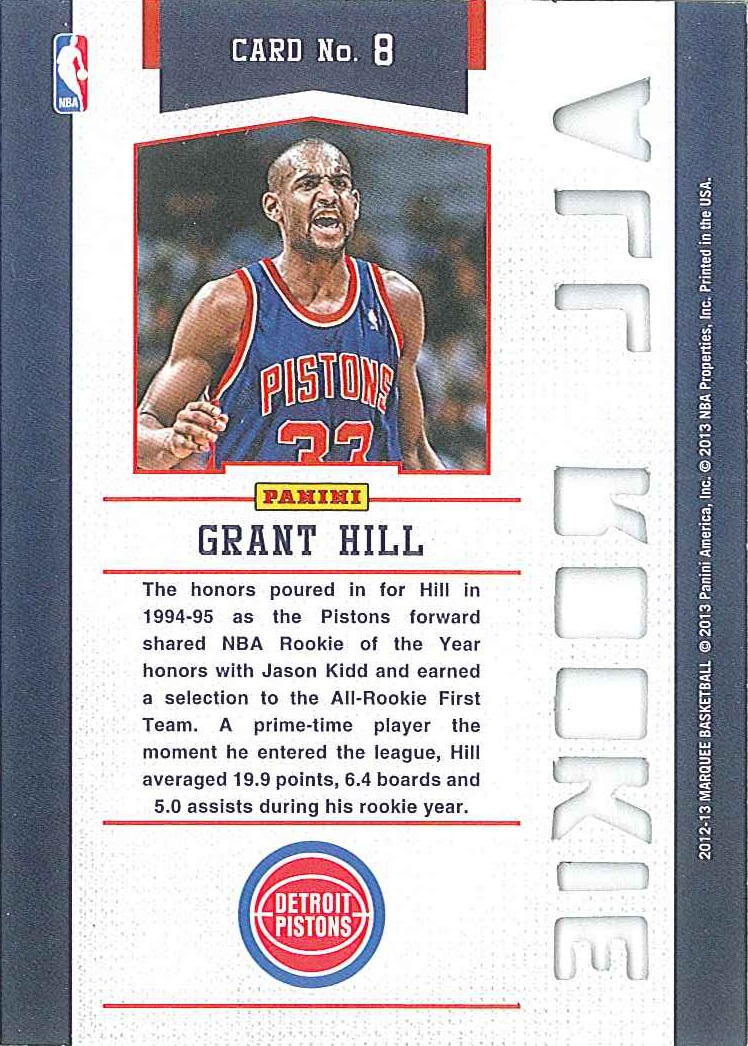 All-Rookie Team #8 Grant Hill back $3