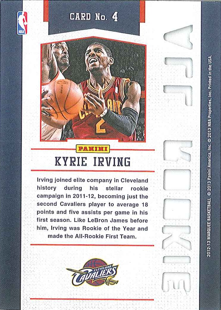 All-Rookie Team #4 Kyrie Irving back $15